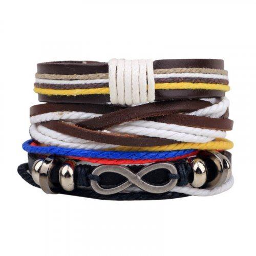 Pattaya Сэт из браслетов с бесконечностью и цветными нитями