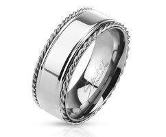Кольцо серебрянное с тросиками SPIKES R3126