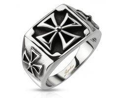 Мужской перстень с крестом SPIKES R8046