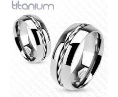 Кольцо титановое серебристое SPIKES R3656