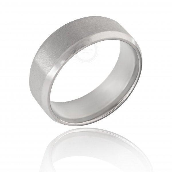Кольцо из стали матовое базовое R144