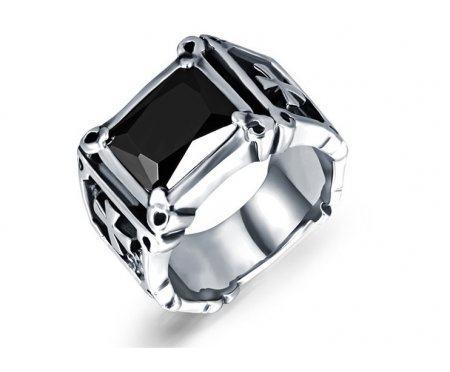 Перстень с черным камнем R1723