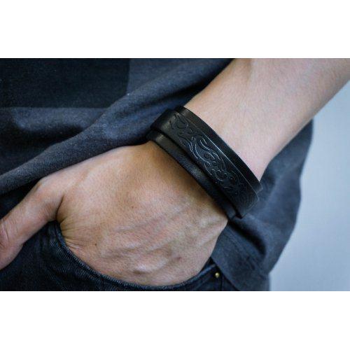 Робинсон браслет из кожи коричневый QB217