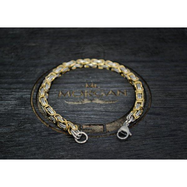 Браслет стальной византийского плетения
