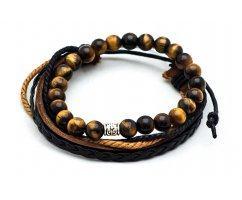 Kalahari desert cэт из браслетов коричневый SH7060
