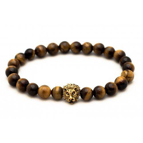 Браслет Lion Gold из тигрового глаза