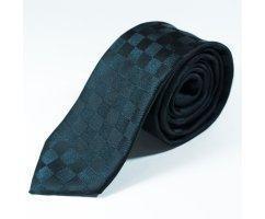 Laurent галстук черный в клетку NT19
