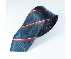 David галстук красный в полоску NT15
