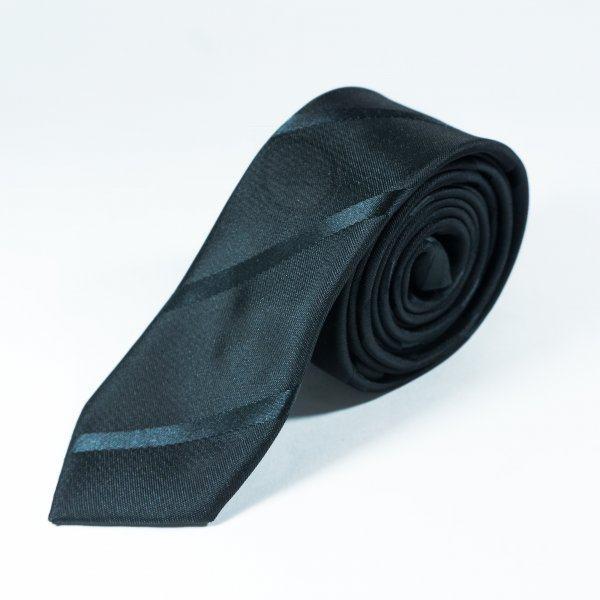 Bernard галстук черный в полоску NT23