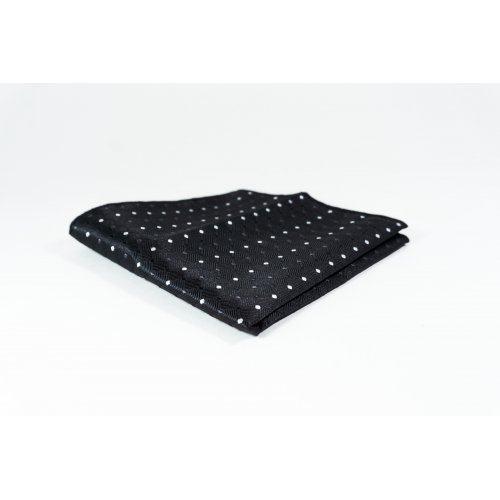 Eric нагрудный платок черный в горошек PS21