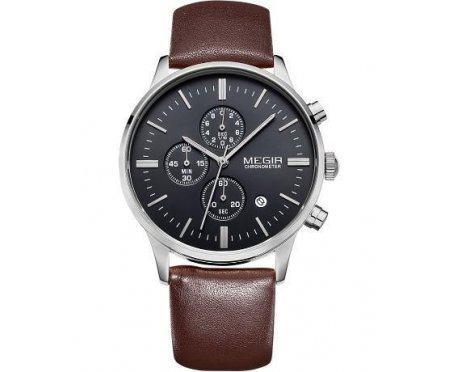 Часы Megir Chrono brown W0012