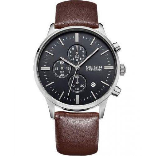 Часы Megir Chrono brown