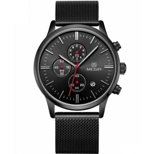 Часы Megir Chrono black