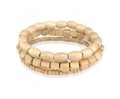 Тайга Светлохвойная сэт из деревянных браслетов SH105