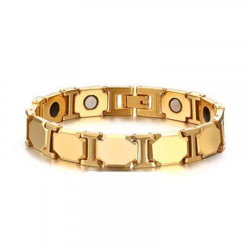 Вольфрамовый браслет золотой WB8166
