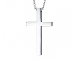 Кулон крест гладкий K237