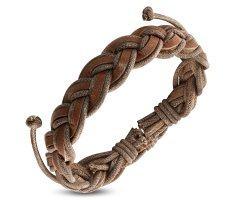 Плетеный браслет из кожи PL944