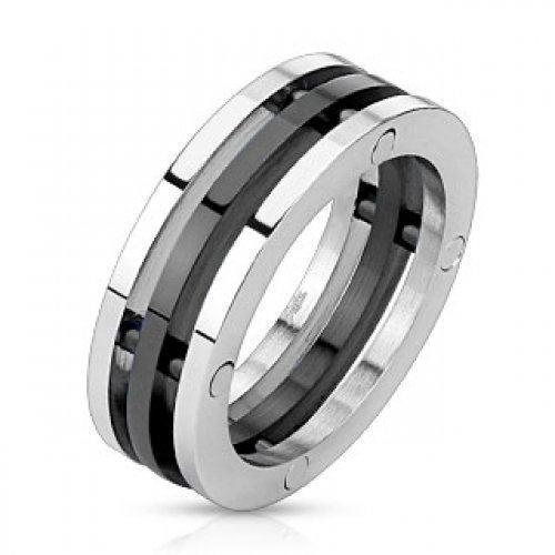 Кольцо стальное SPIKES стильное с необычным дизайном , яркое , оригинальное