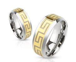 Кольцо стальное золотое SPIKES R3649