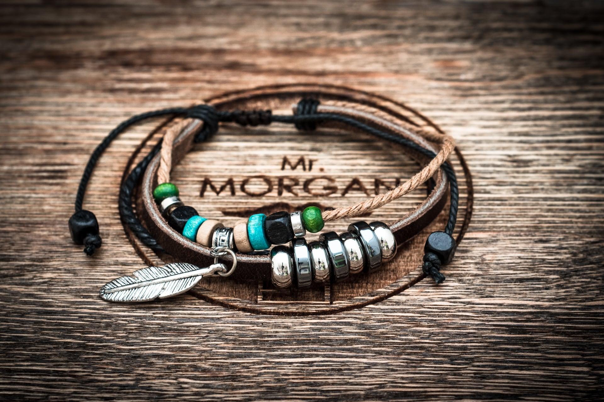 Плетеные мужские кожаные браслеты